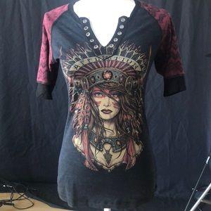 Affliction women's T-shirt small